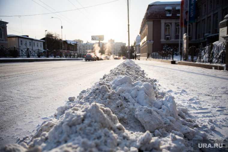 Екатеринбург снег уборка ГИБДД