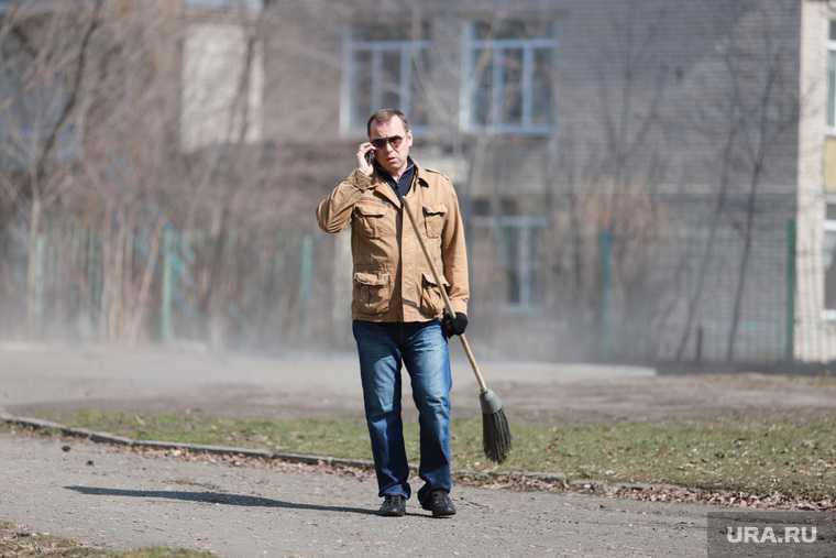Субботник с врио губернатора Шумковым Вадимом. Курган