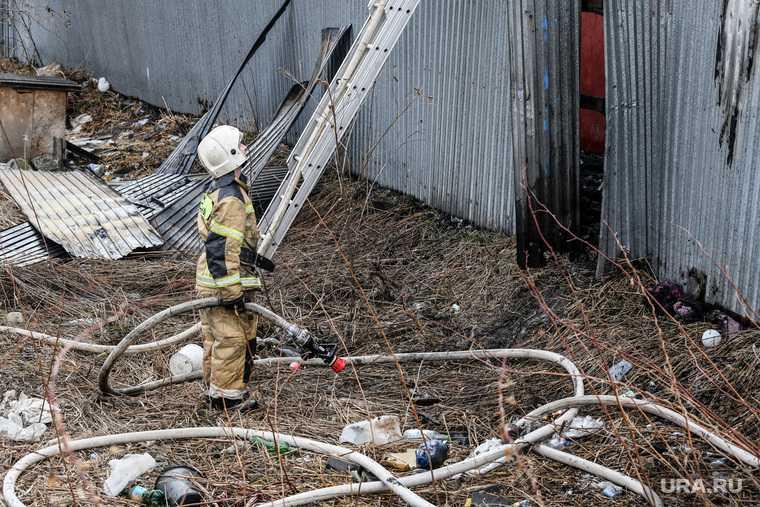 пожар улица Никитина частный дом Атомстройкомплекс
