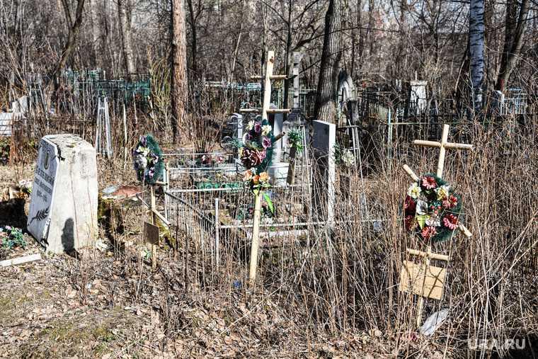 Свалка на городском кладбище Ишима